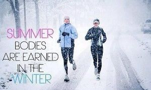 Summerbodies are earned in winter